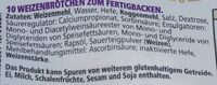 Kaiserbrötchen zum Fertigbacken - Ingrediënten - de