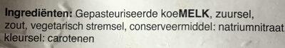 Goudse Kaas - belegen - Ingredients - nl