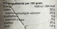 Goudse Kaas - belegen - Nutrition facts - nl