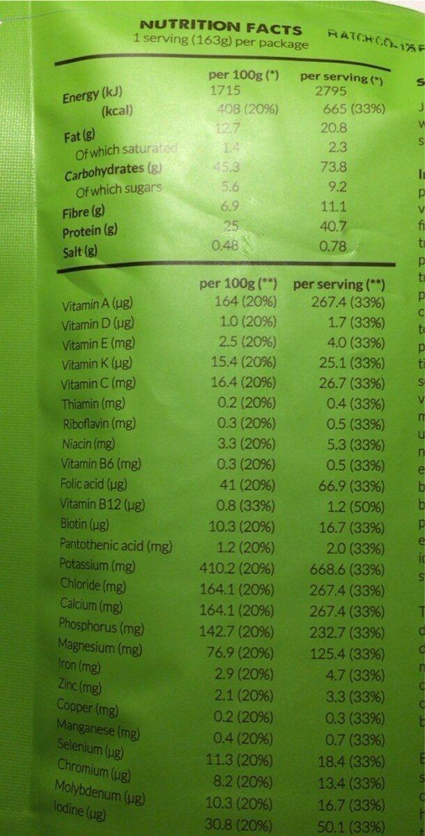 Jake Original Coffee - Informazioni nutrizionali - fr