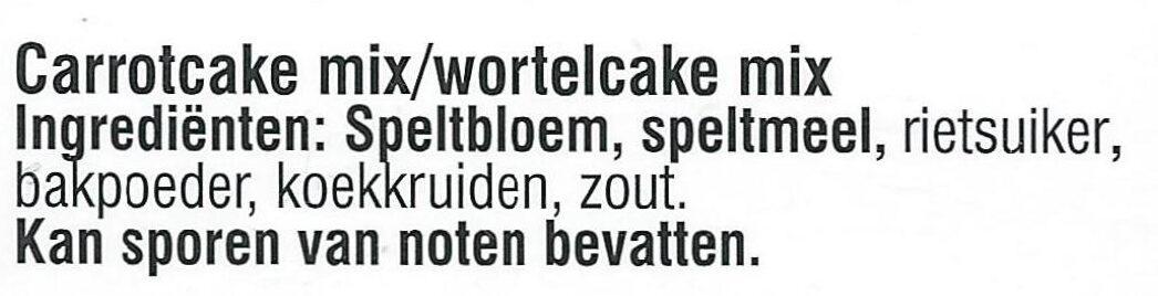 Carrotcake - Ingrediënten - nl