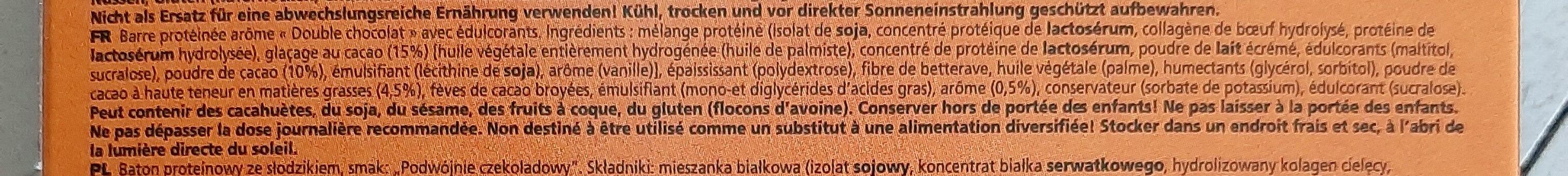 Protéines Bar Double Choco - Ingrédients