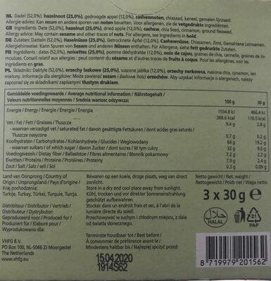 Fruit&Nut Bar - Ingrediënten - fr