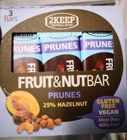 Barres prunes et noisettes - Product - fr