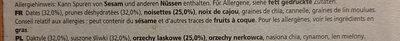 Barres prunes et noisettes - Ingrédients - fr