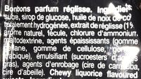 Mentos Réglisse - Ingredients