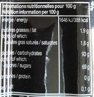 Mentos Réglisse - Nutrition facts