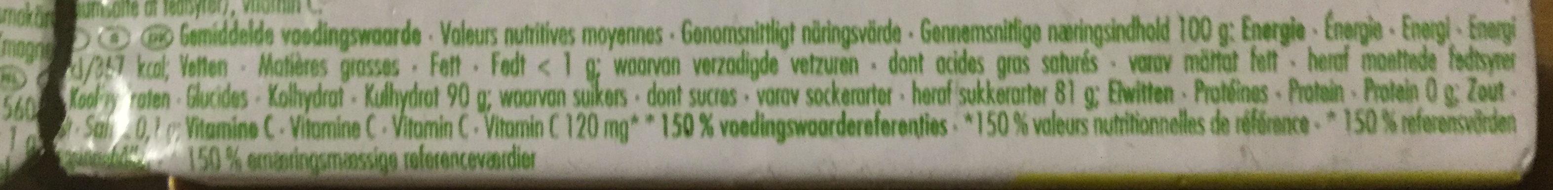 Lemon - Informations nutritionnelles
