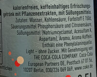 Coca Cola Light Taste - Ingredients