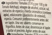 Tomato Ketchup 50% - Ingredientes