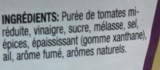 Sauce Barbecue - Ingredientes