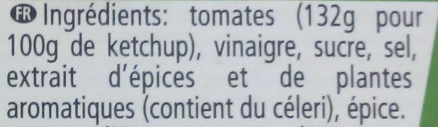 Tomato Ketchup - Ingredientes