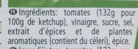 Ketchup - Ingredientes - fr