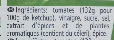 Ketchup - Ingredientes