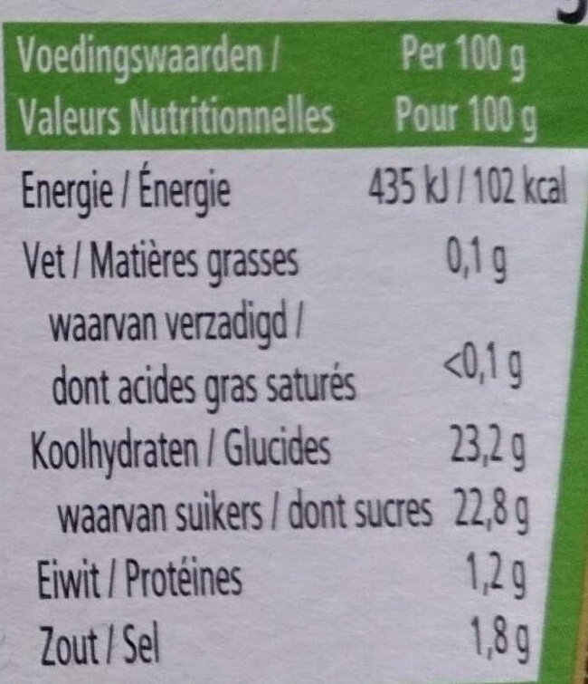 Tomato Ketchup - Informations nutritionnelles - fr
