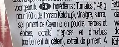 Hot Chilli ketchup - Ingrédients