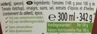Heinz Tomato Ketchup - Ingrédients - fr