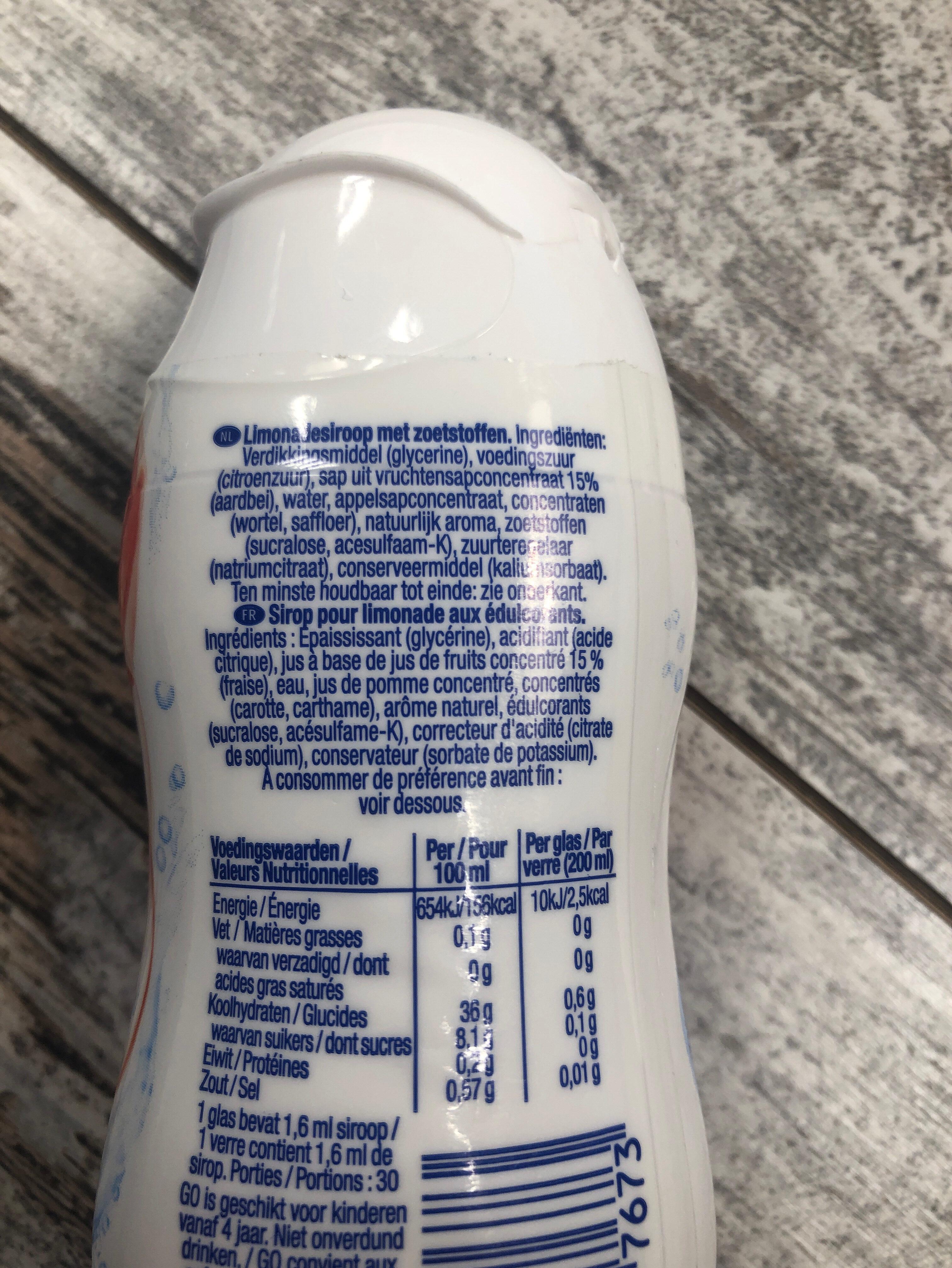 GO strawberry - Ingrediënten