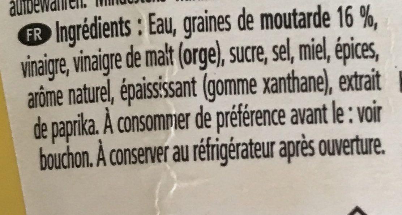 HEINZ Senf American Mustard Mild, 220 ML - Ingredienti - fr