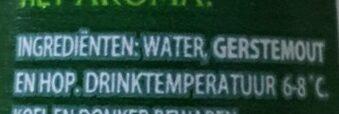 Grolsch Premium Pilsner - Ingrediënten