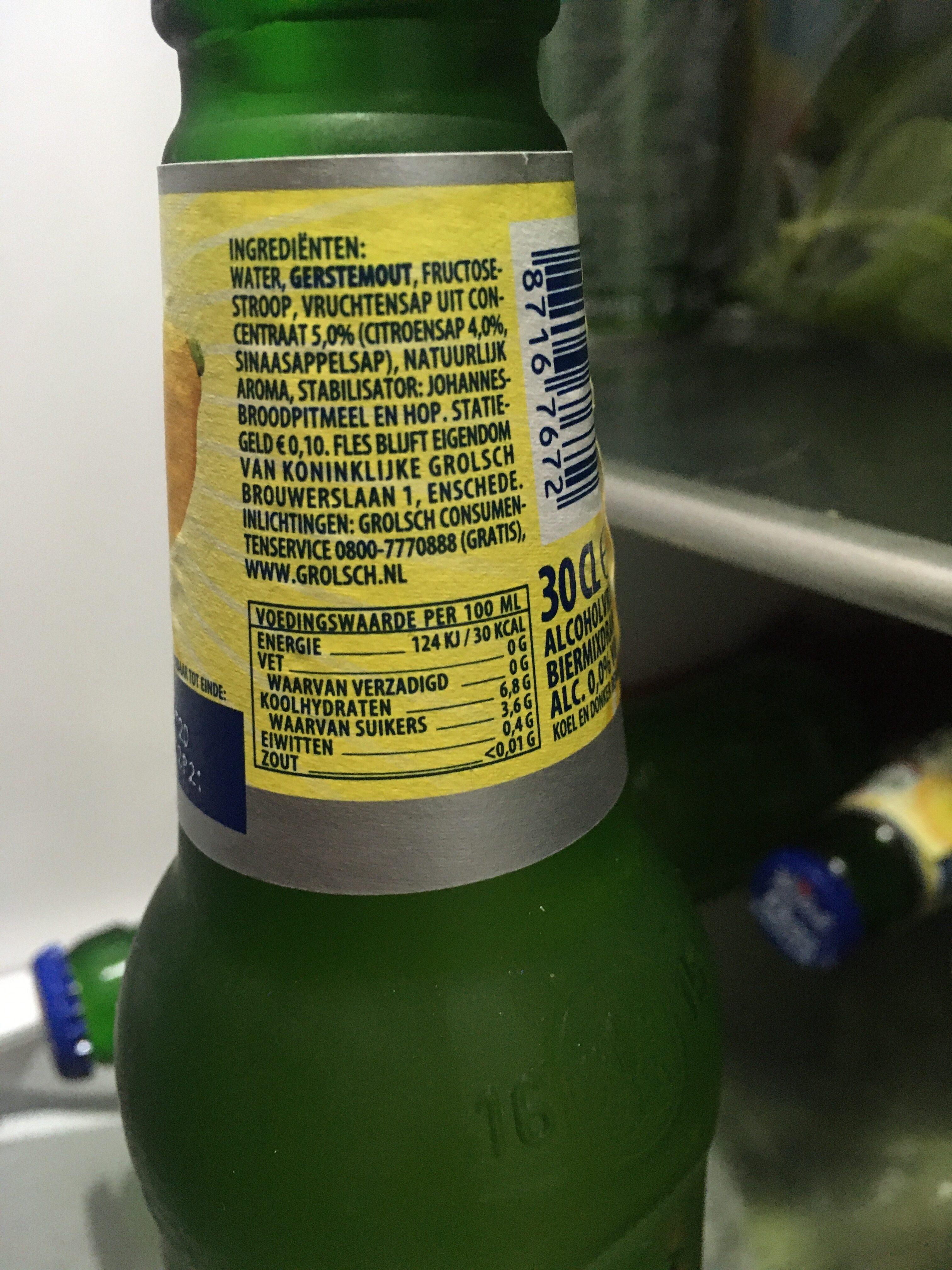 Radler 0,0% citroen - Ingrediënten - nl