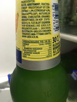 Radler 0,0% citroen - Voedingswaarden - nl