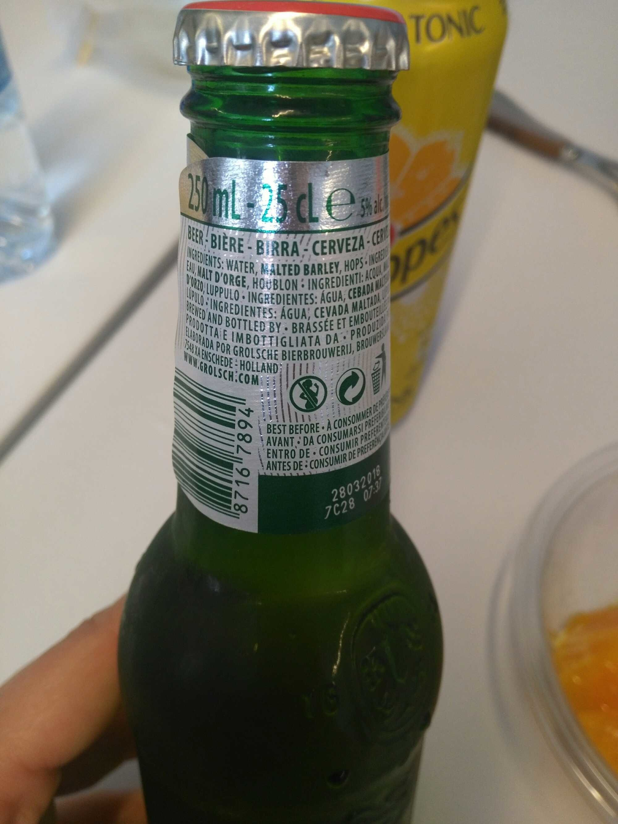 Grolsch Premium Lager 250Ml - Product - fr