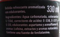Pepsi Max - Ingredientes - es