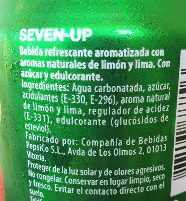 7up - Ingredientes