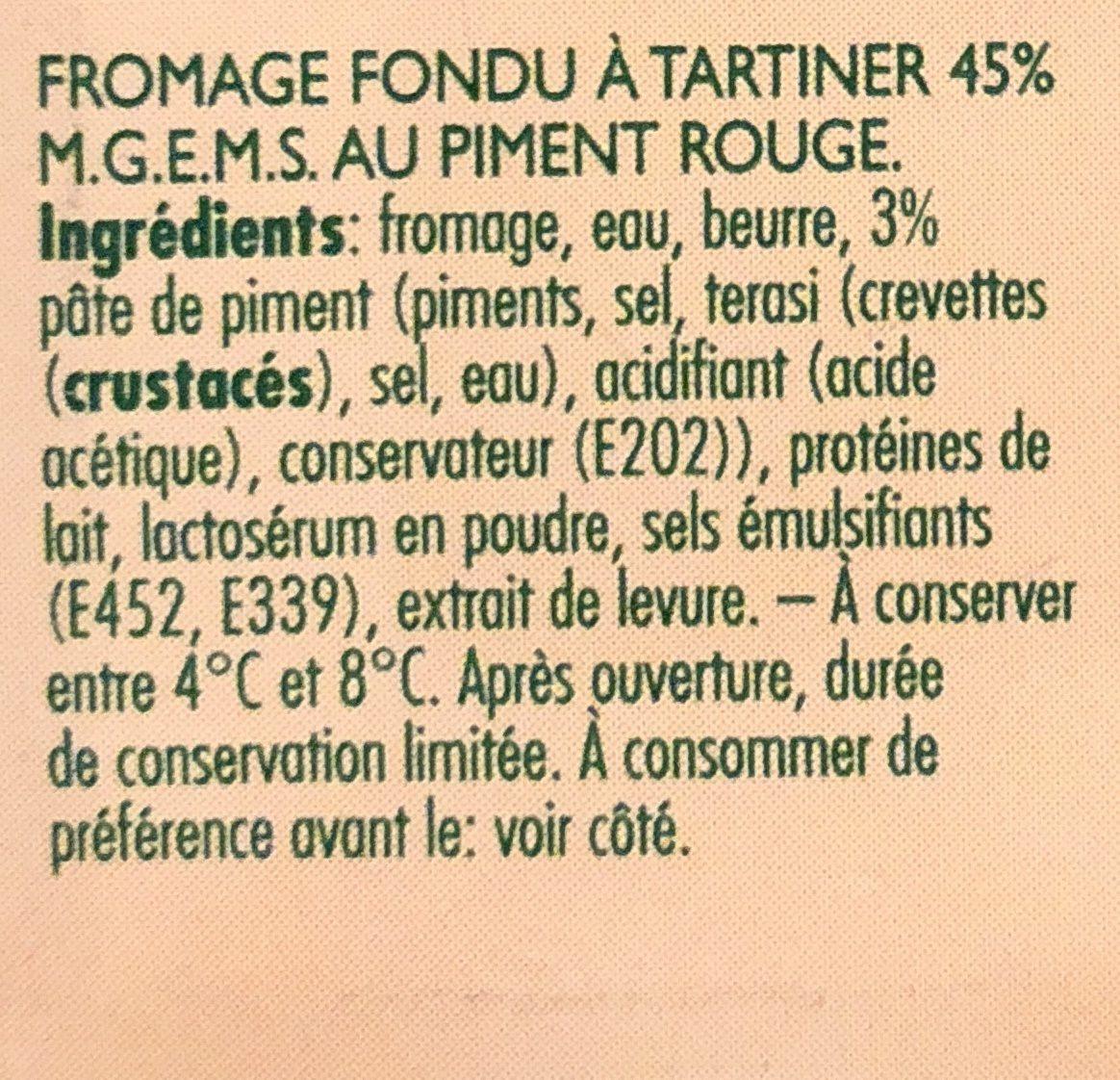 Goudkuipje Sambal / piment - Ingrediënten - fr