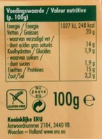 Goudkuipje Sambal / piment - Voedingswaarden - fr