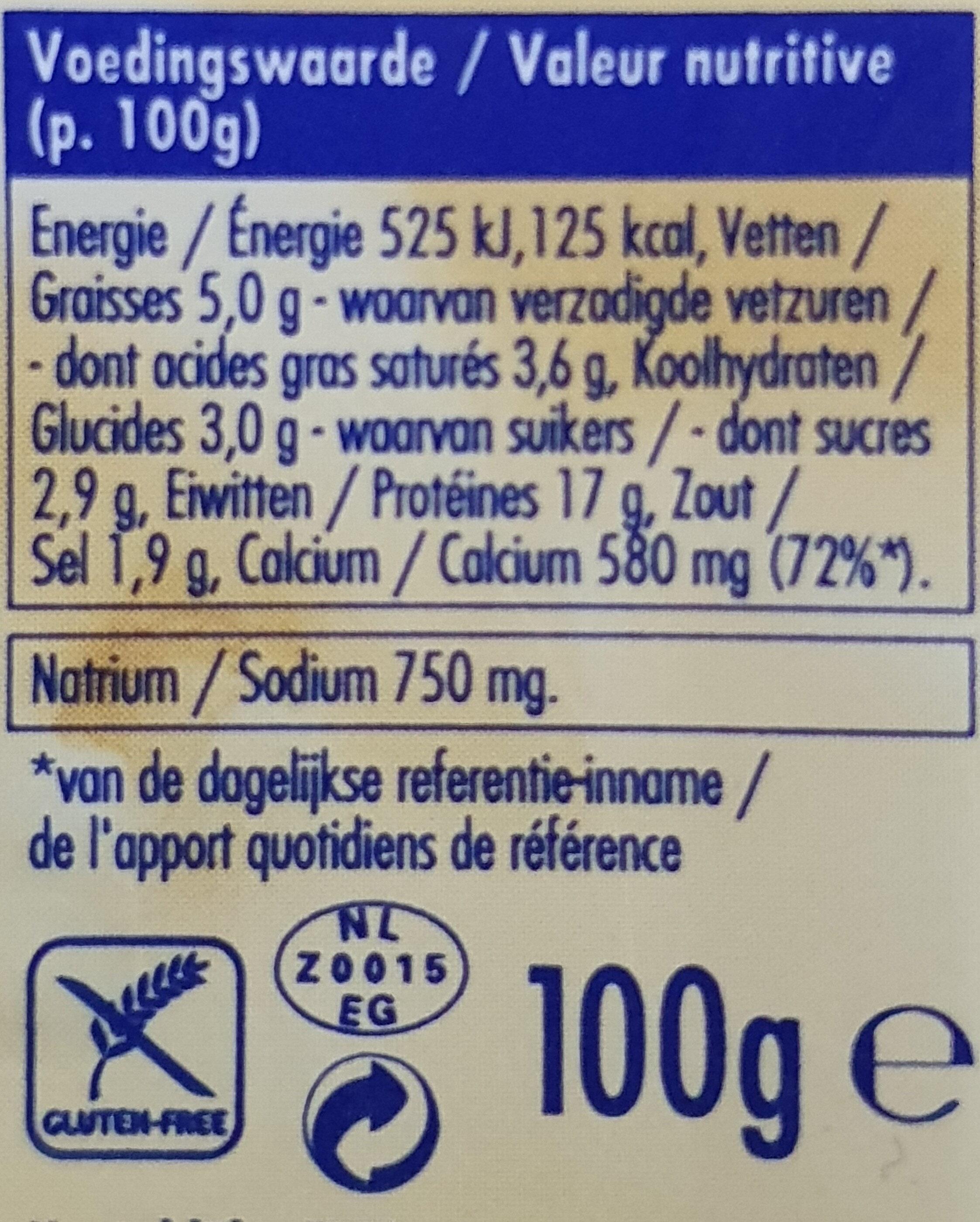 ERU Balans naturel 15+ - Valori nutrizionali - nl