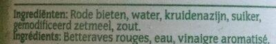 Betteraves Rouges - Ingrediënten - nl