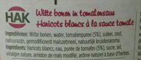 Hak Haricots Blancs a La Sauce Tomate - Ingrédients - fr