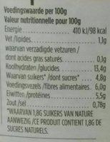 Hak Haricots Blancs a La Sauce Tomate - Informations nutritionnelles - fr