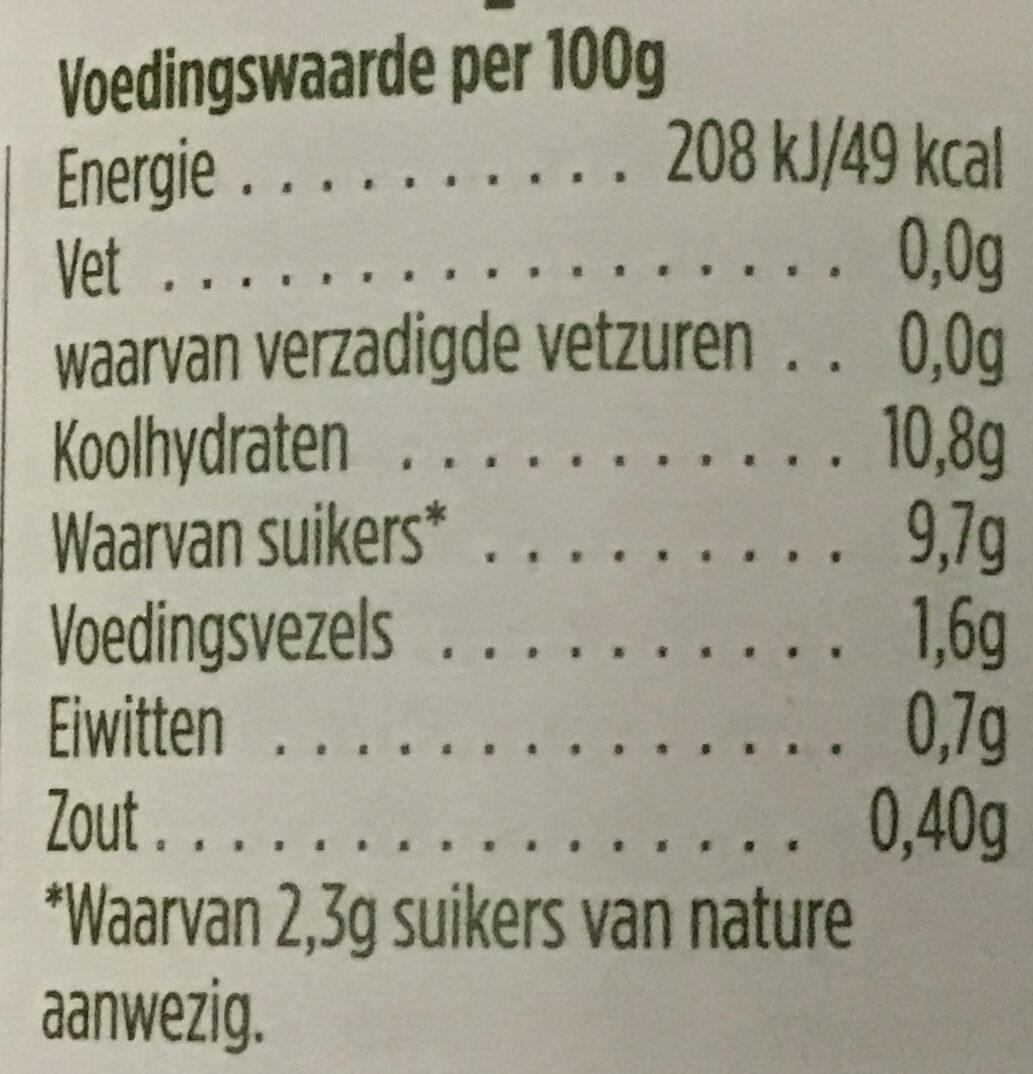 Rode kool met stukjes appel - Nutrition facts - nl