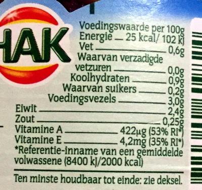 Boerenkool - Voedingswaarden - nl