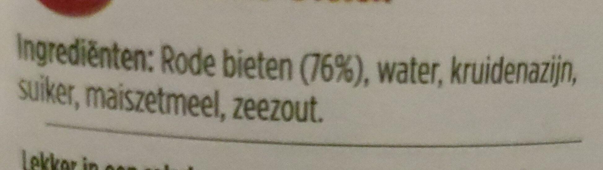 Rode Bieten - Ingredients - nl