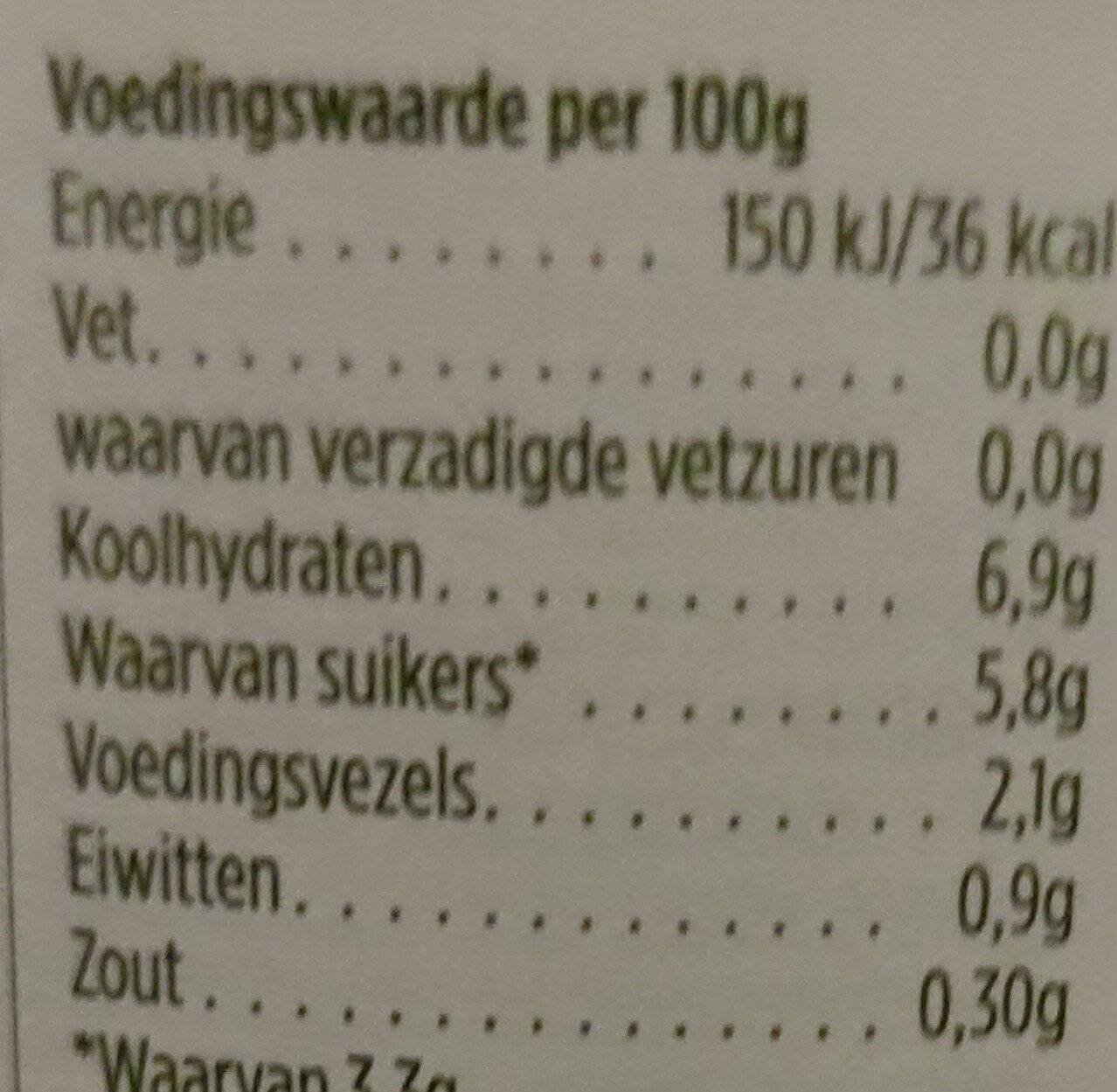 Rode Bieten - Nutrition facts - nl