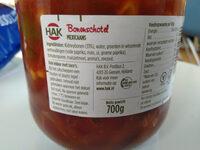 bonenschotel - Ingrediënten - nl