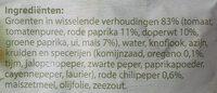 Mexicaanse Groenteschotel - Ingredients - nl