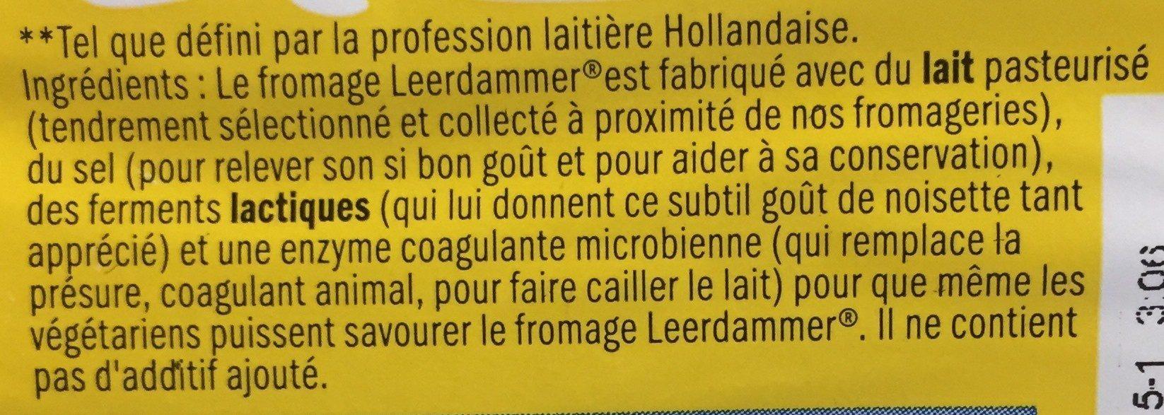 Leerdammer Léger (16% MG) - Ingredients - fr
