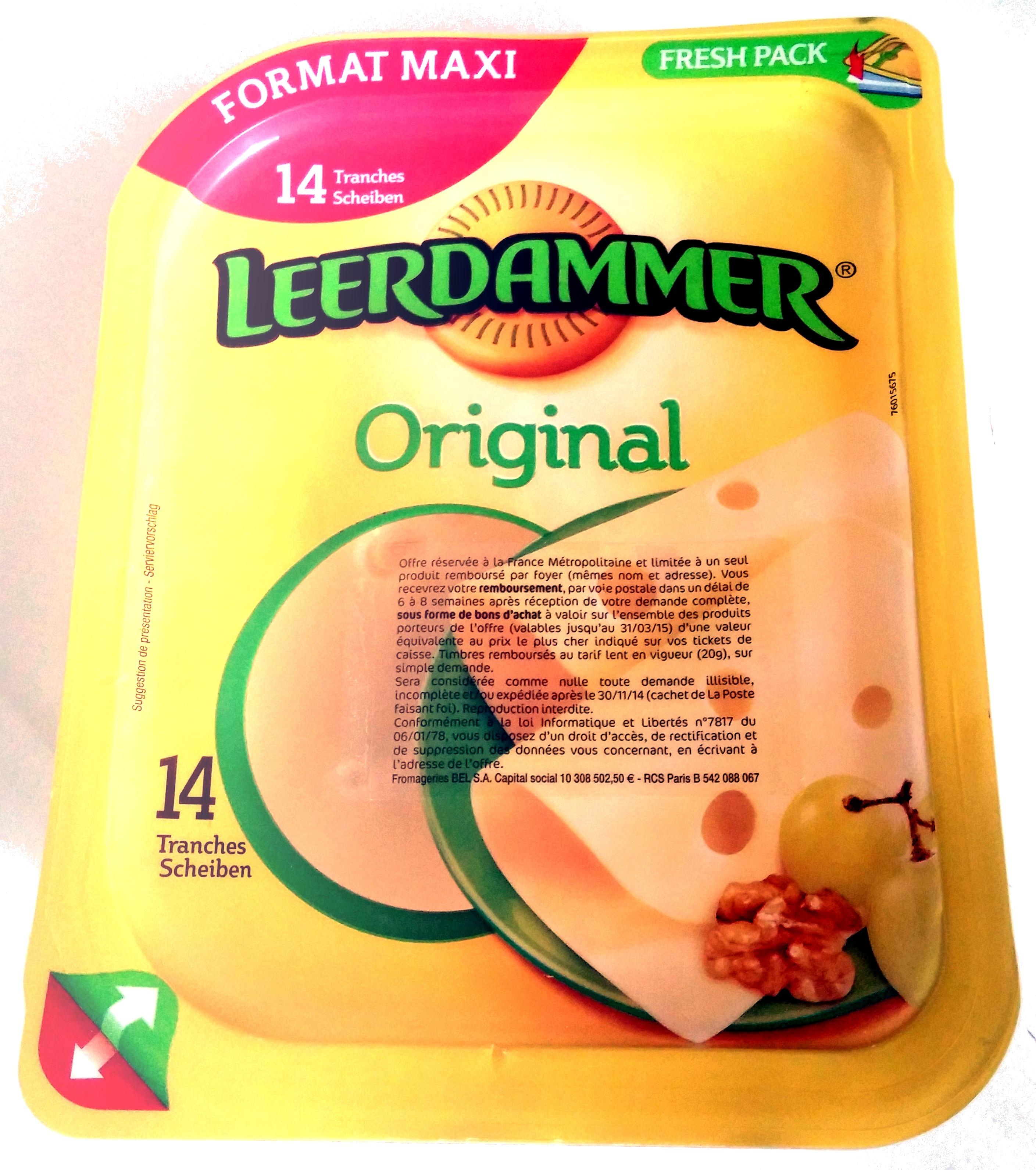 Leerdammer ® Original (27,5% MG) - 14 tranches - 350 g - Produkt - fr