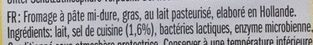 Leerdammer ® Original (27,5% MG) - 14 tranches - 350 g - Zutaten - fr