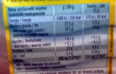 Leerdammer ® Original (27,5% MG) - 14 tranches - 350 g - Voedingswaarden - fr