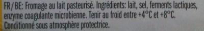 Leerdammer ® Original (27,5% MG) - 8 Tranches - 200 g - Ingredients