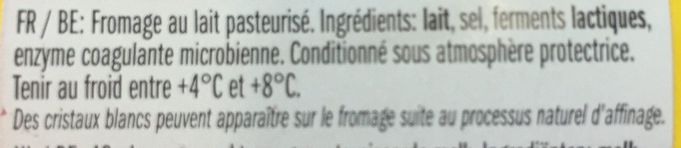 Caractère - Ingredients - fr