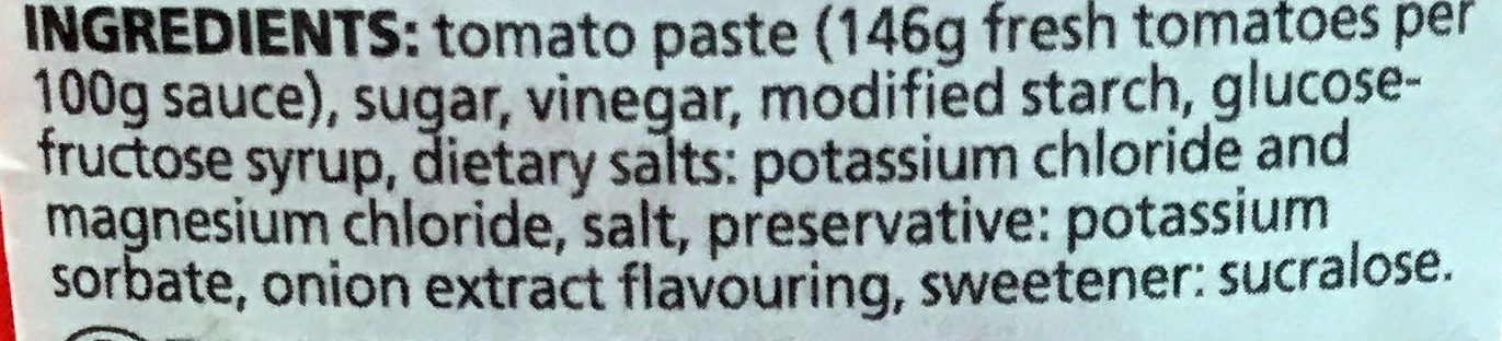 Tomaten Ketchup - Ingredients - en