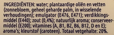 Lichtste pondje - Ingredients - nl