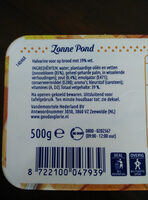 Halvarine Zonne Pond - Ingredients - nl